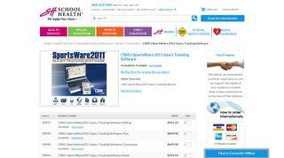 CSMi's SportsWare 2011 Injury Tracking Software - School Health