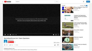 SportsWareOnLine Unit 1 Basic Operations - YouTube