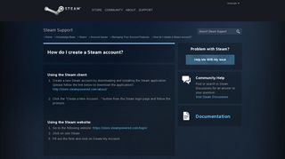 How do I create a Steam account? - Managing Your Account Features ...