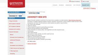 Strayer University - University Web Site