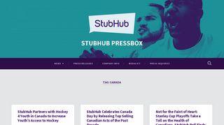 Canada – STUBHUB PRESSBOX