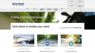 Claims Submissions – Sym-Tech Dealer Services