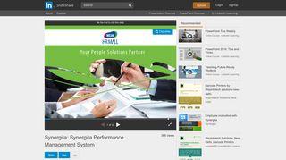 Synergita: Synergita Performance Management System - SlideShare