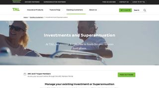 Investments and Superannuation | TAL