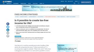 Is it possible to create tax-free income for life? - CNBC.com