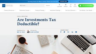 Are Investments Tax Deductible? | Pure Financial Advisors, Inc.