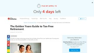 The Golden Years Guide to Tax-Free Retirement - TurboTax Tax Tips ...