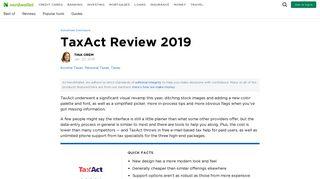 TaxAct Review 2019 - NerdWallet