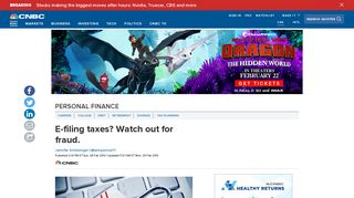 E-filing taxes? Watch out for fraud. - CNBC.com