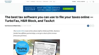 Best tax software to file taxes online: TurboTax, H&R Block, TaxAct ...