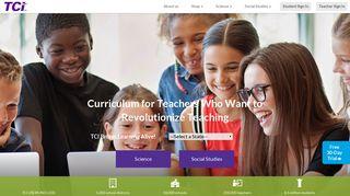 TCI: Curriculum for Teachers & Textbook Publishing Company
