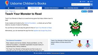 Teach Your Monster to Read app - Usborne Publishing