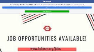 Humanitarian OpenStreetMap Team (HOT) - Home | Facebook