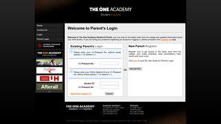 Parent Login - The One Academy Student Portal