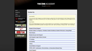 The One Academy Student Portal