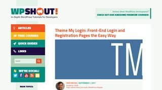 Theme My Login: Front-End Login and Registration Pages the Easy ...