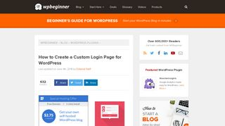 How to Create a Custom Login Page for WordPress - WPBeginner