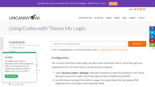 Using Codes with Theme My Login - Uncanny Owl