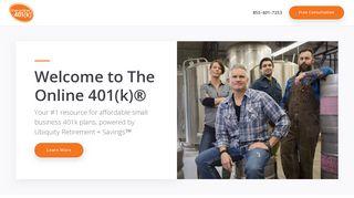 The Online 401(k)