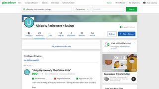 Ubiquity Retirement + Savings - Ubiquity (formerly The Online 401k ...