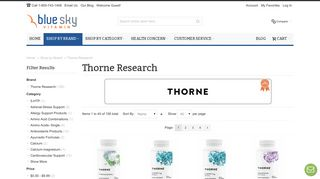 Thorne Research Supplements | BlueSkyVitamin.com