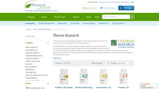 Thorne Research - Shop Top Vitamin Brands - Natural Healthy Concepts