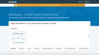 Distributor at Tianjin Tianshi India Pvt Ltd | Profiles, Jobs, Skills ...