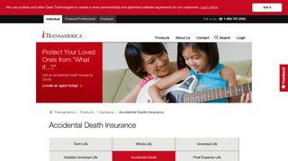 Accidental Death Insurance | Transamerica