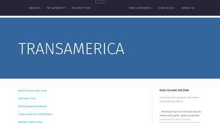 Transamerica | The Benefits Department