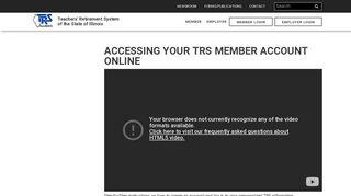 Accessing Your TRS Member Account Online | Teachers' Retirement ...