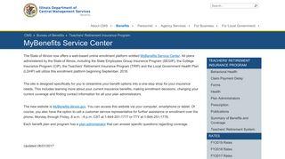 MyBenefits Service Center - Teachers' Retirement ... - Illinois.gov