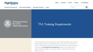 TSA Training Requirements for Non-U.S. Citizens at FlightSafety