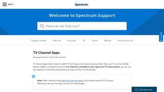 TV channel apps - Spectrum.net
