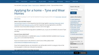 Applying for a home - Tyne and Wear Homes • The Gateshead ...