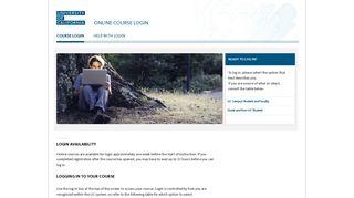 Online Course Login