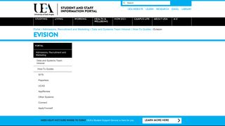 Evision - The UEA Portal