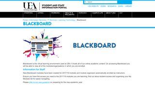 Blackboard - The UEA Portal