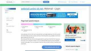 Access webmail.umhs-sk.net. Webmail - Login