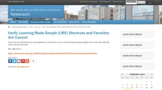 Verify Learning Made Simple (LMS) - UNC Health Care News