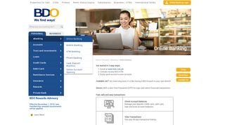 Online Banking Services   BDO Unibank, Inc.