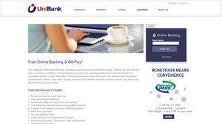 UniBank > ebanking > Online Banking