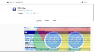 CCS Max - Google Chrome
