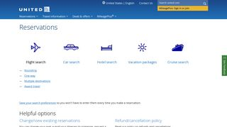 Flight Reservations   Book Travel Reservations - United Airlines