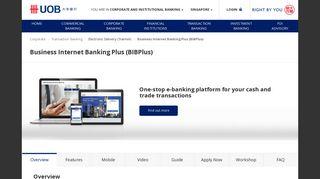 UOB : Business Internet Banking Plus (BIBPlus)