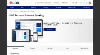 UOB : Personal Internet Banking