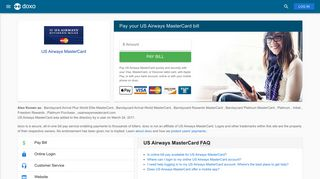 US Airways MasterCard: Login, Bill Pay, Customer Service and Care ...