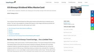 US Airways MasterCard | Credit Card Review - ValuePenguin