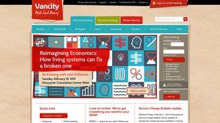 Vancity: Personal banking