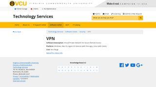 VPN   Technology Services   VCU