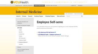 Employee Self-serve – VCU Department of Internal Medicine